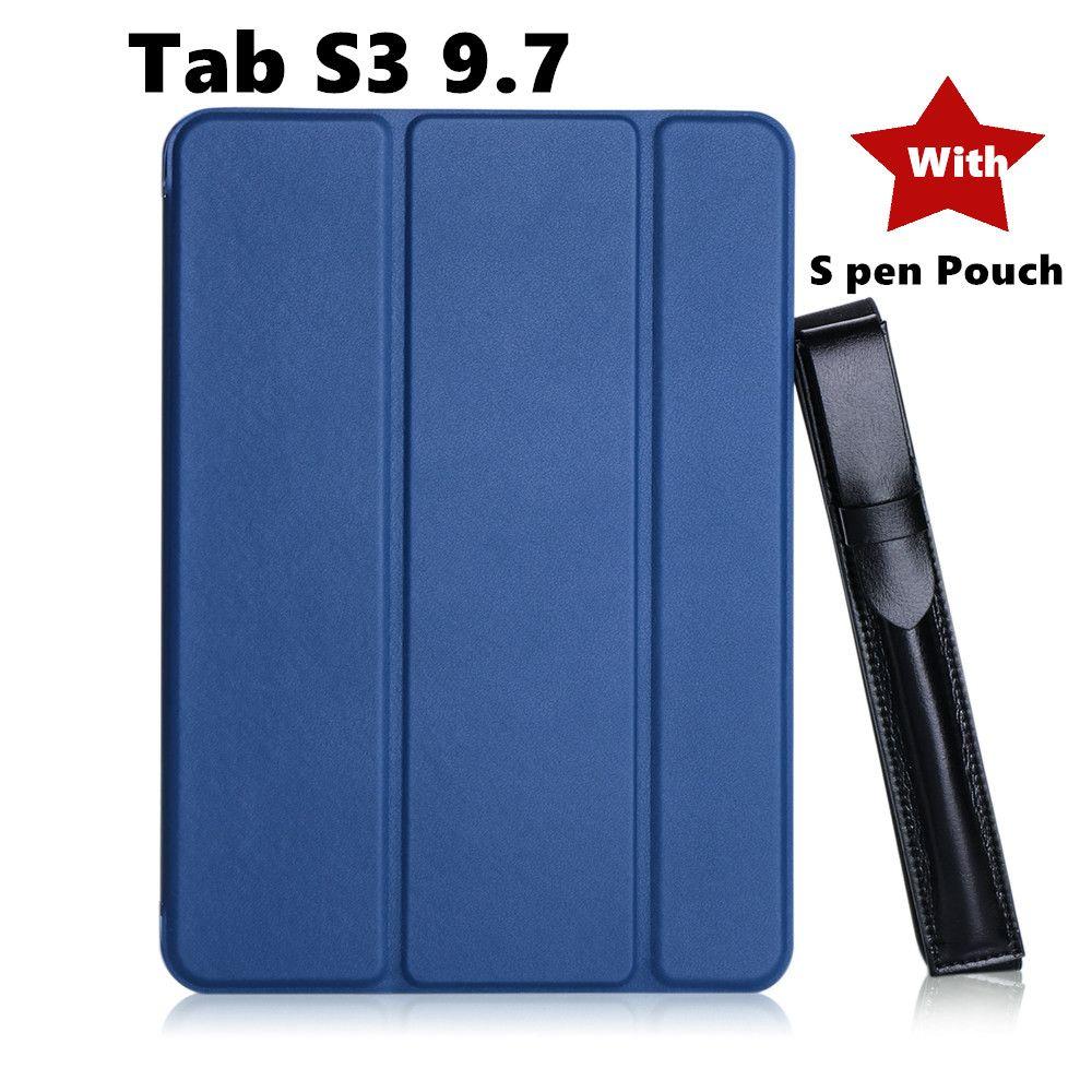 Tab s3 9.7 peint mince magnétique pliable PU étui Flip couverture pour Samsung Galaxy Tab S3 9.7 9.7