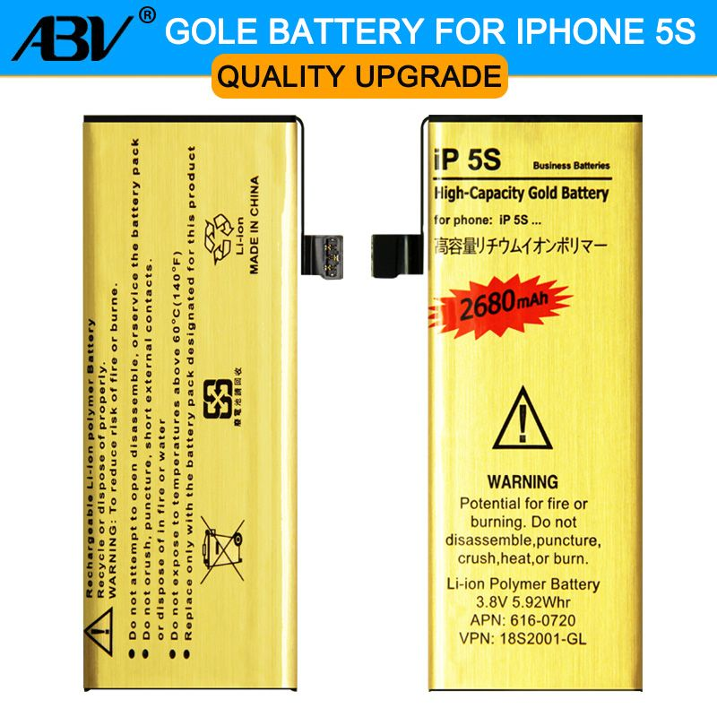 D'origine VOL Marque Nouvelle Bonne Qualité D'or bateria ip5s Mobile téléphone Batterie pour Apple iPhone 5S iphone5S 5C Batterie 2017 nouveau