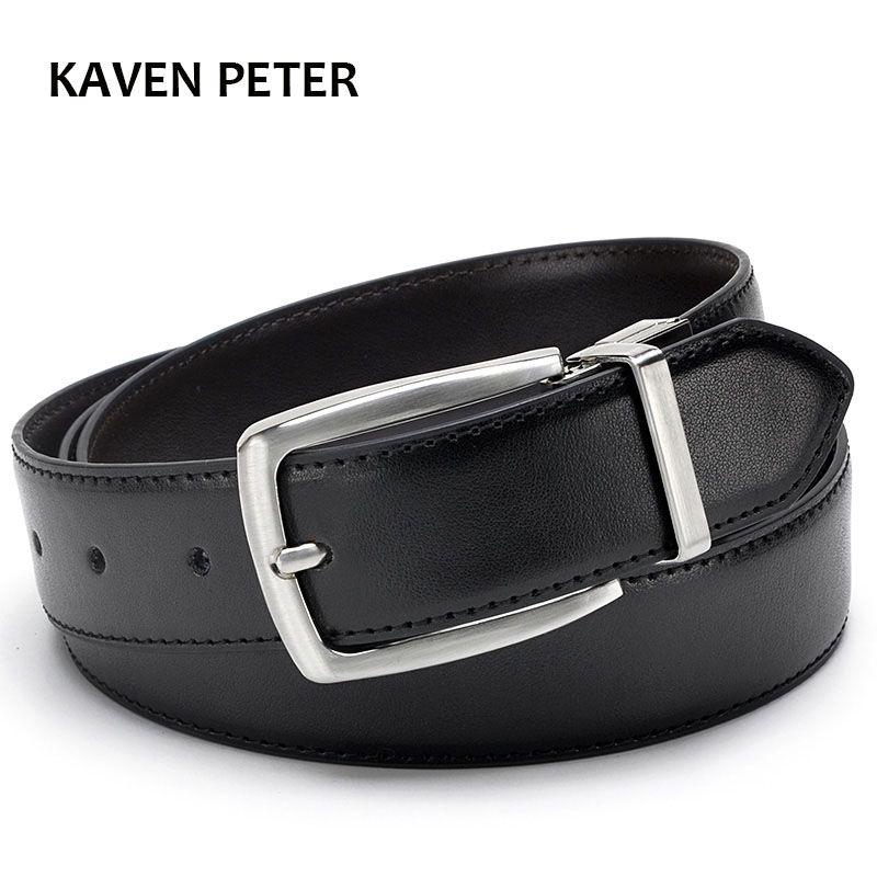 Ceinture luxe cuir ceinture hommes marque vrai cuir 35mm réversible boucle ceinture noir marron Designer ceinture pour hommes de haute qualité