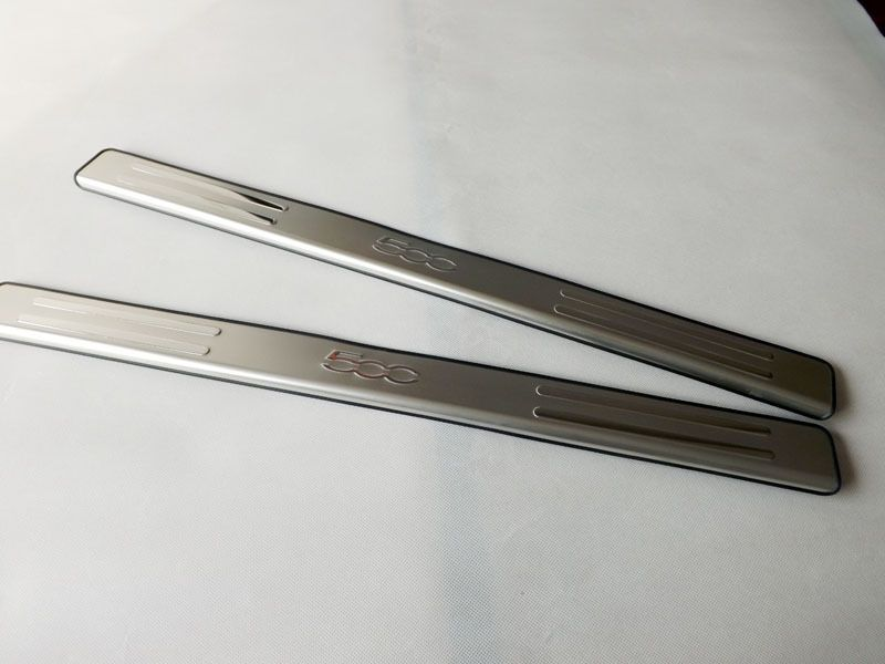Free Shipping 2012 For Fiat 500 stainless steel  door sill plate door sill scuff plate 2pcs