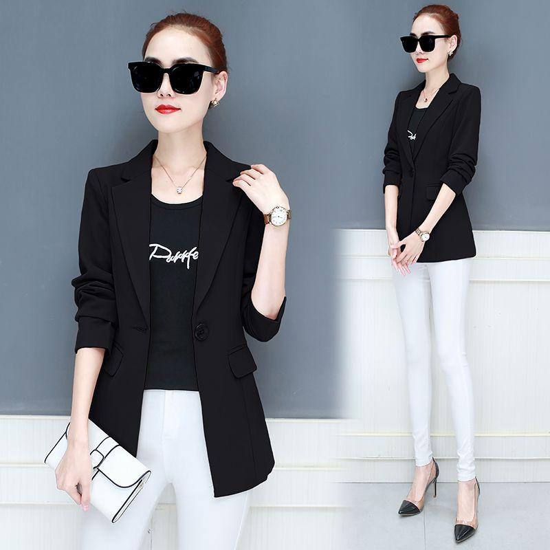 LANLOJER Neue Frauen Blazer Mid-Lange Jacken Feste Beiläufige Mantel Blazer Feminino Frauen Blazer Tops Anzug 890 #