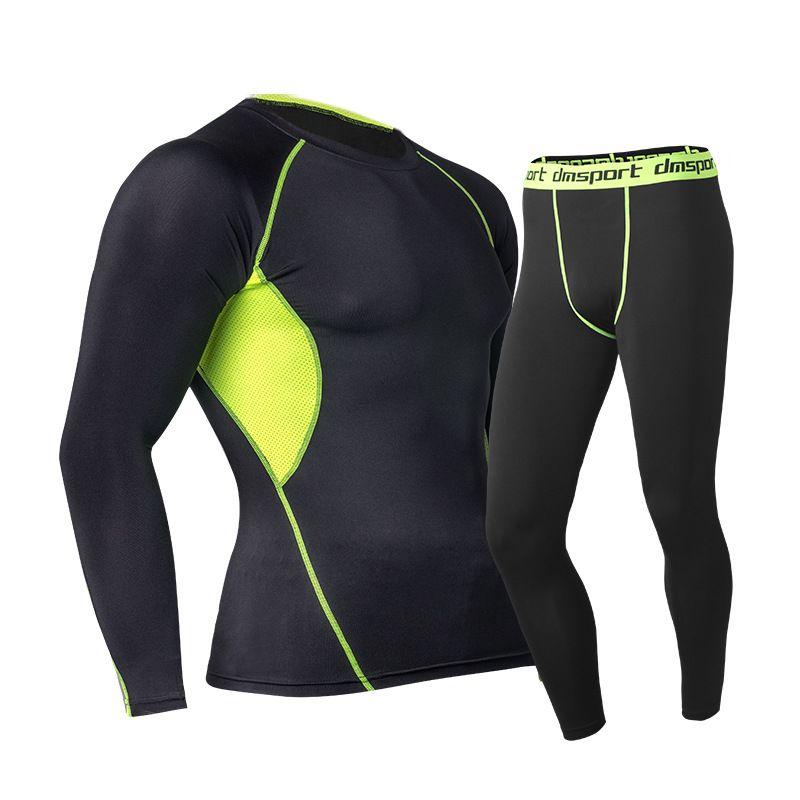 Nuevos mens underwear set 2016 de invierno cálido térmica superficial tecnología hot-dry fuerza elástica calzoncillos largos traje de compresión de la suerte john