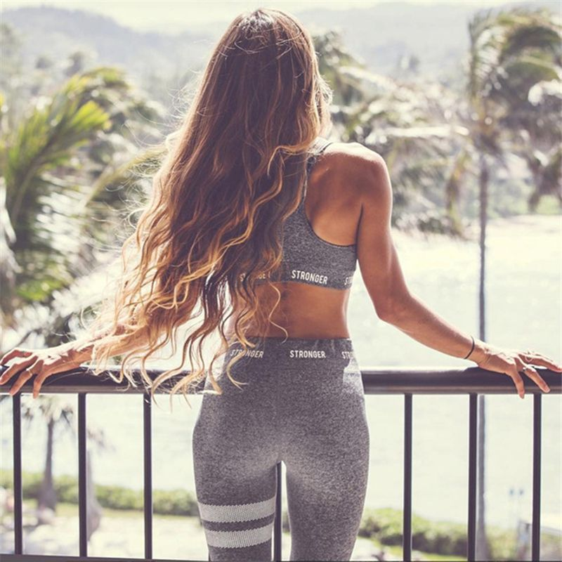 2018 Women Yoga Sets Vest Fitness Suit GYM Clothing Workout Clothing Running tracksuit Pilate Sports Wear Sport Suits Yoga Pant