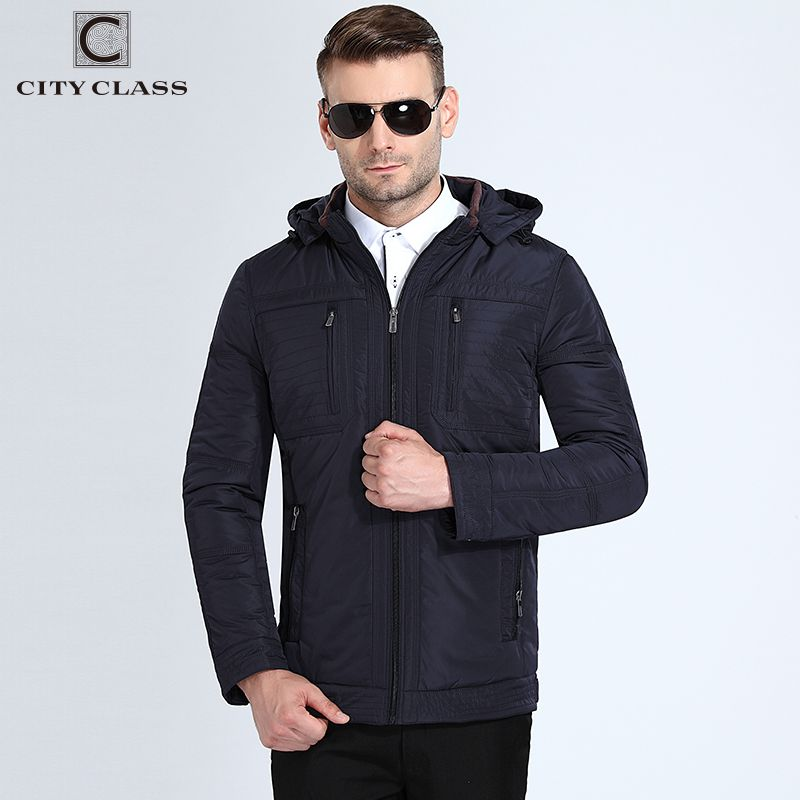 City Class Autumn Jacket Mens Detachable Hood Quilted Padded Parkas Business Style Plus Size 6xl Fashion Casaco Masculino 18012