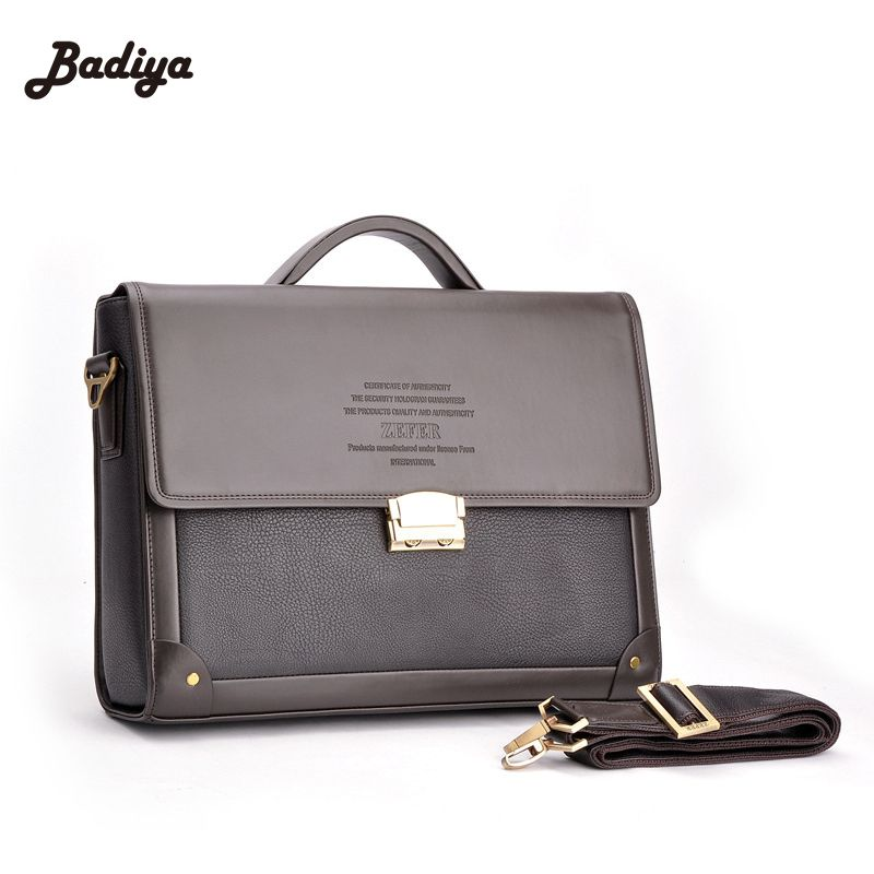 Trendy New Men Business Briefcase With Lock Fashion Shoulder Bag Classic Bolsos Case Messenger Shoulder Attache Portfolios Tote