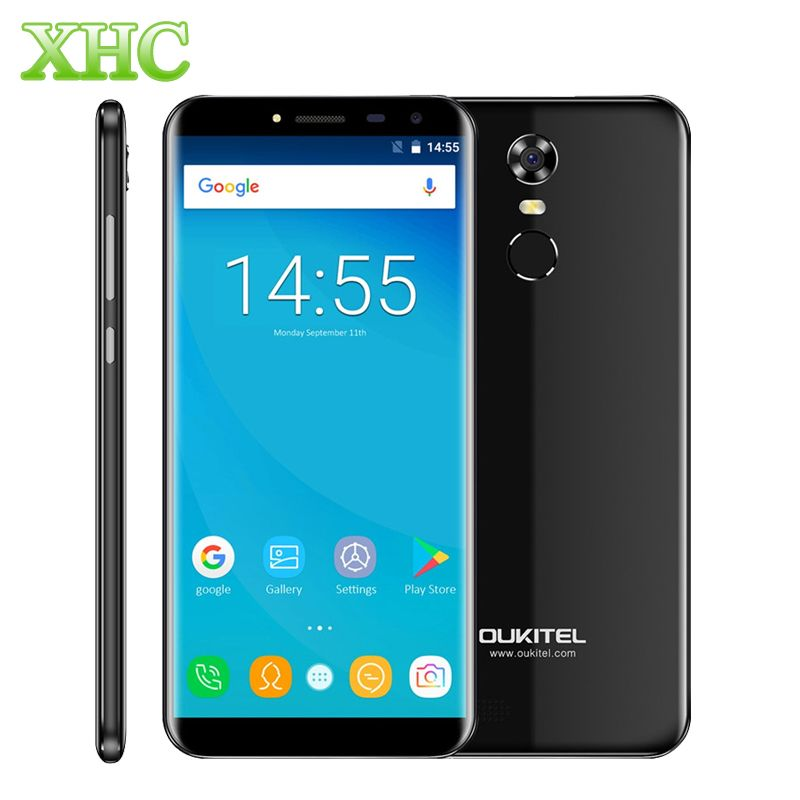 OUKITEL C8 5.5 inch Mobile Phone 2GB+16GB Fingerprint ID Android 7.0 MTK6850A Quad Core1.3GHz WCDMA 3G Dual SIM Smartphone