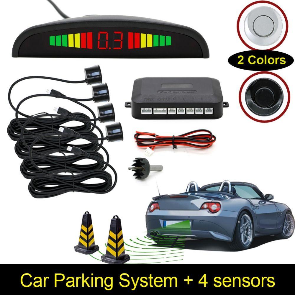[Unbeatable At $X.99] Car LED Parking Sensor Assistance Reverse Backup Radar Monitor System Backlight Display+4 Sensors