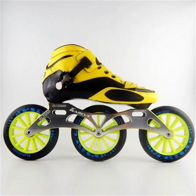 Carbon Fiber Fiberglas Geschwindigkeit Inline Skates 3*125 Rad Kind der Erwachsene Wettbewerb Street Racing Sport Schuhe Training Patines f031