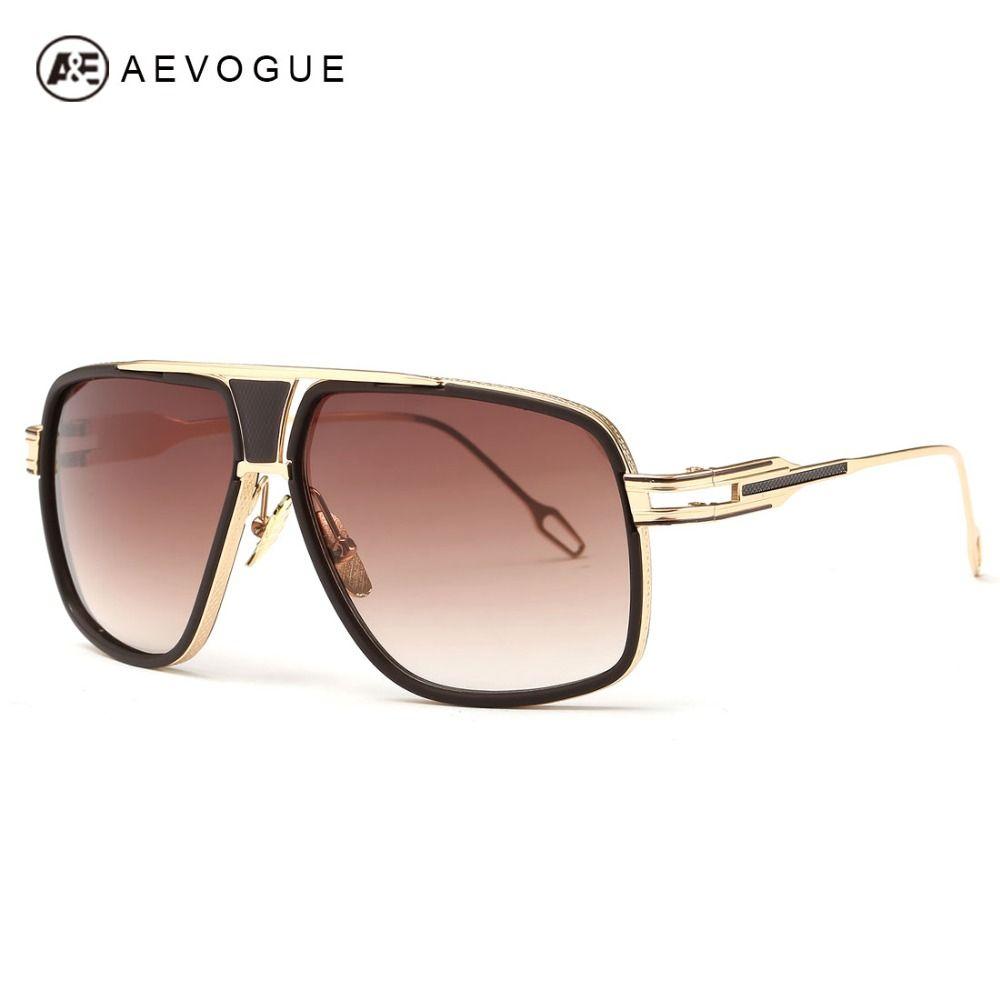 AEVOGUE gafas de Sol de Los Hombres Más Nuevos de La Vendimia Gran Marco de las Gafas de Verano Estilo de Diseño de Marca Gafas de Sol Gafas De Sol UV400 AE0336