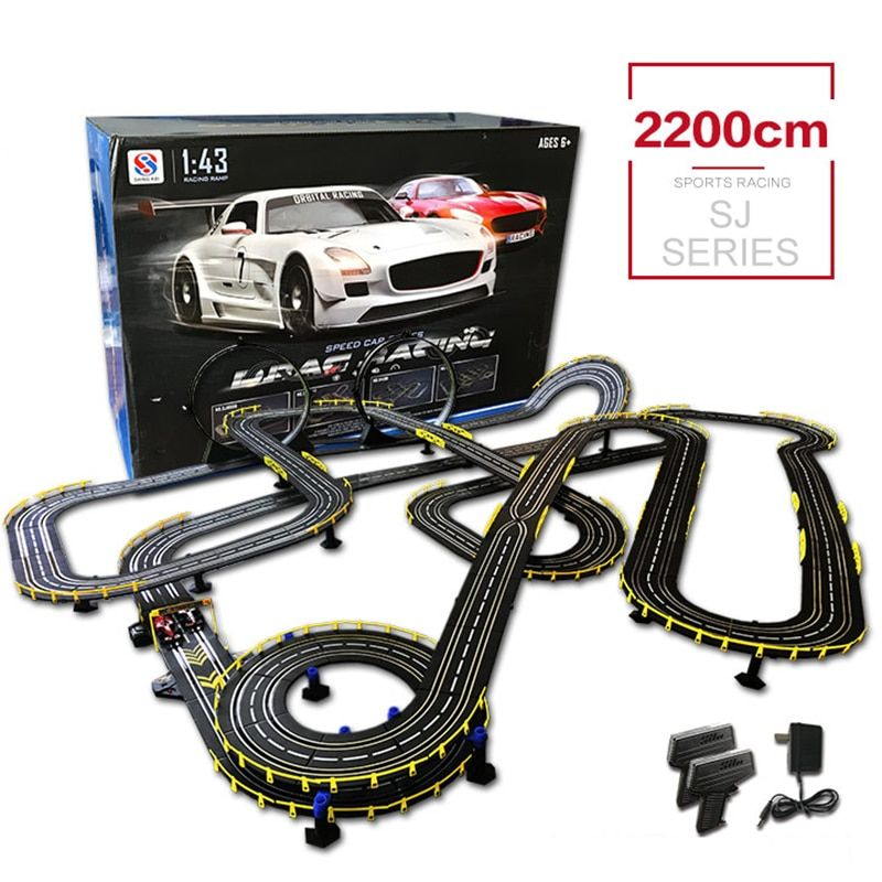 DIY Car Track Building 1:43 RC Car Toys High Speed Electric Wired Remote Racing Track Toys Parent-child Interaction toys Family