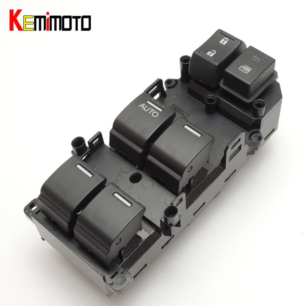 KEMiMOTO For Honda Power Master Window Switch Front Left for Honda Accord 2008 2009 2010 2011 35750TB0H01