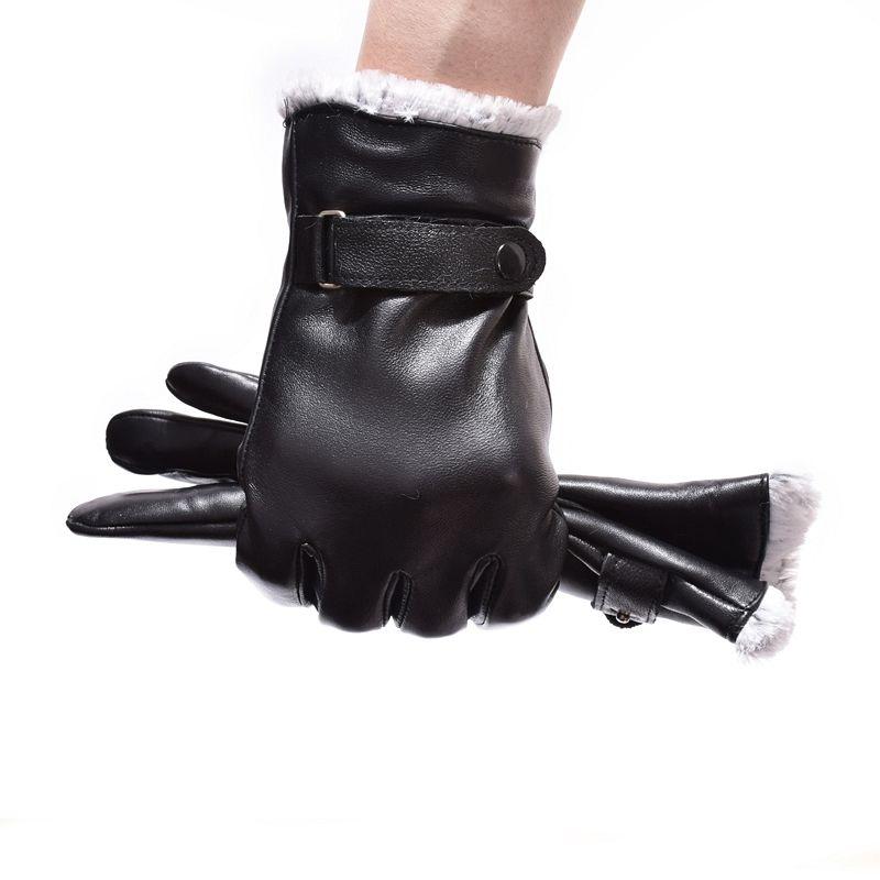 Новинка зимы Прихватки для мангала для мужчин Пояса из натуральной кожи Для мужчин Прихватки для мангала теплые полный палец козьей варежк...