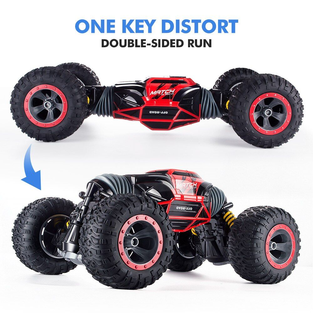 1:16 Scale Double-sided 2.4GHz RC Car One Key Transform All-terrain Off-Road Vehicle Varanid Climbing Truck Remote Control Toys