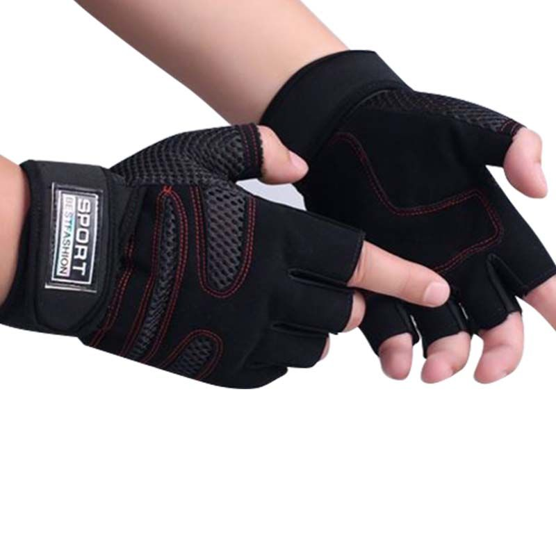 Sports Exercise Crossfit Gym Training Fitness Accessories A34 Weight Lifting Gym Gloves Wrist Wrap Leather