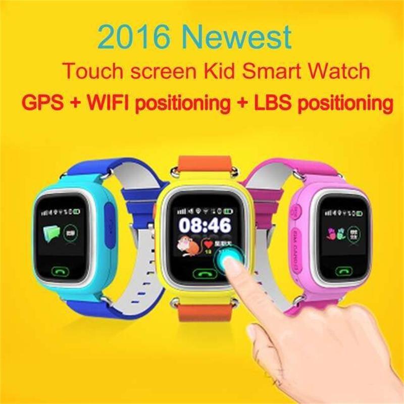GPS montre intelligente bébé montre Q90 avec Wifi écran tactile SOS Call Lieu DeviceTracker pour Kid Safe Anti-Perdu Moniteur PKQ80 Q60