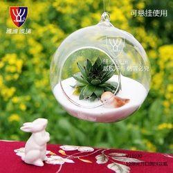 O. Roselif Merek Gantung Kaca Vas Terarium Bola Dunia Bentuk Jelas Dekorasi Rumah Wadah Pernikahan Dekorasi