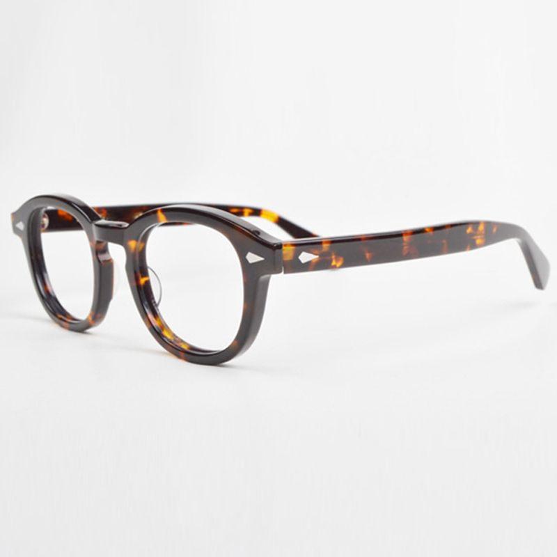 Optique lunettes cadre hommes avec boîte et étui ordinateur Johnny Depp Vintage lunettes lunettes cadre pour homme lentille transparente YQ080