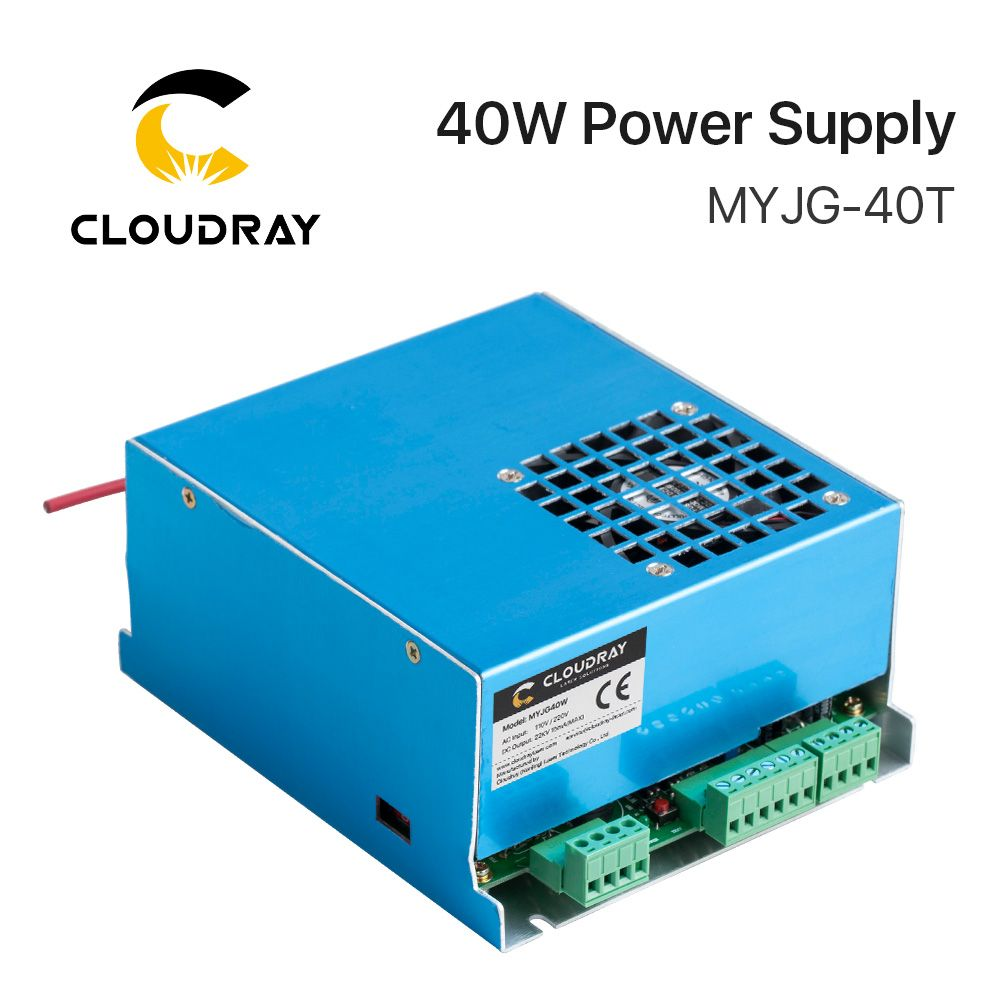 Cloudray 40W CO2 Laser Power Supply MYJG-40T 110V 220V for CO2 Laser Engraving Cutting Machine 35-50W