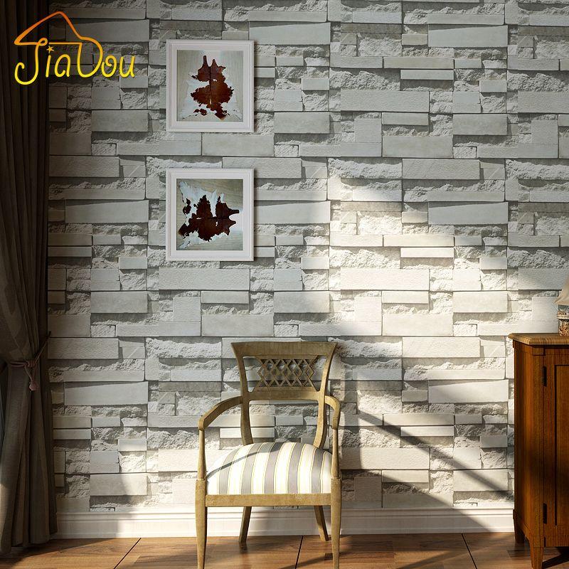 Современные 3D камень, кирпичная стена из нетканого материала стены Бумага roll Гостиная Спальня Задний план Настенный декор Книги по искусст...