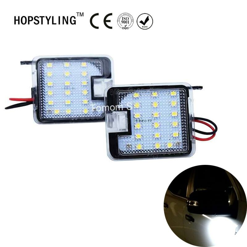 Hopstyling 2Pcs for Ford Kuga Focus LED Side Mirror Puddle Light Led Under Mirror Light Car-styling Auto Replacement HOPSTYLING