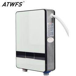 ATWFS Высокое качество мгновенный проточный водонагреватель 6500 Вт В 220 В термостат индукционный нагреватель Smart Touch Электрические нагреватели...