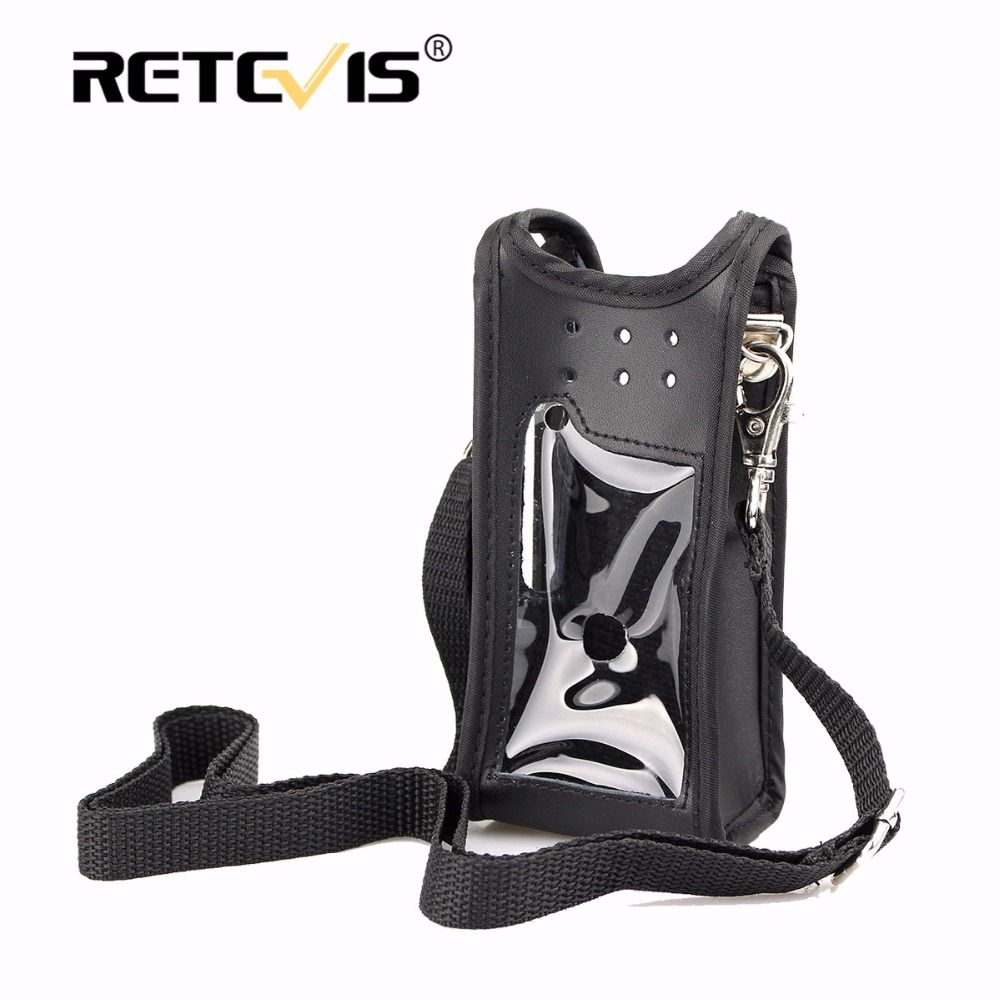 New Walkie talkie Holster RT82 Case Leather Carrying Holder For TYT MD-2017 Retevis RT82 vhf uhf dual band DMR radio Accessories