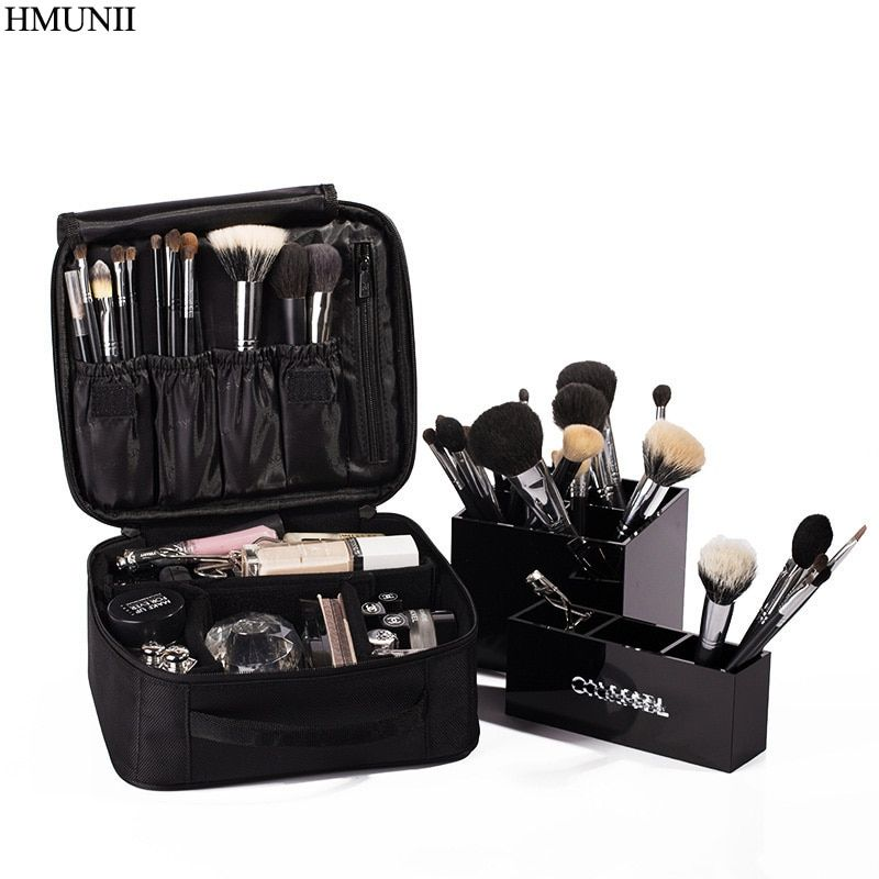 Hmunii бренд Для женщин косметичка высокое качество Косметический Организатор путешествия на молнии Портативный Макияж сумка дизайнеры Маги...
