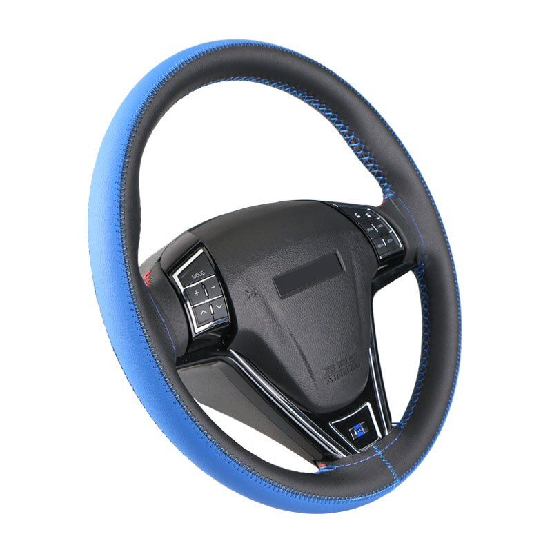 Leisure Brush Color Top Leather handlebar braid Steering- Wheel/DIY Very durable steering wheel cover skin