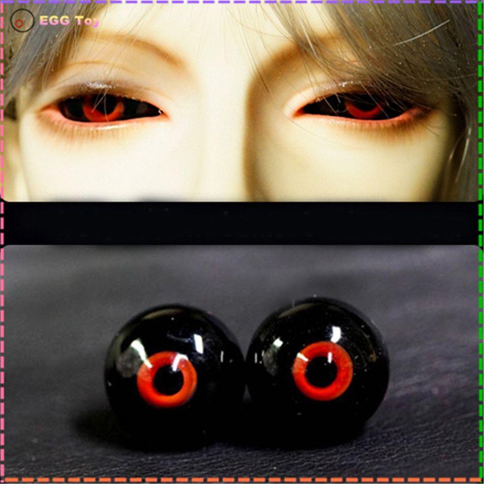 Yeux en verre pour poupée BJD yeux balle petit iris 12mm 16 MM 18mm noir rouge yeux boule pour BJD poupée à la main oeil pour 1/4 1/6 1/3 poupées