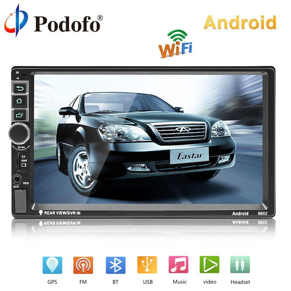 Podofo 2 din Android Auto Radio GPS Navigation Auto Audio 2DIN 7