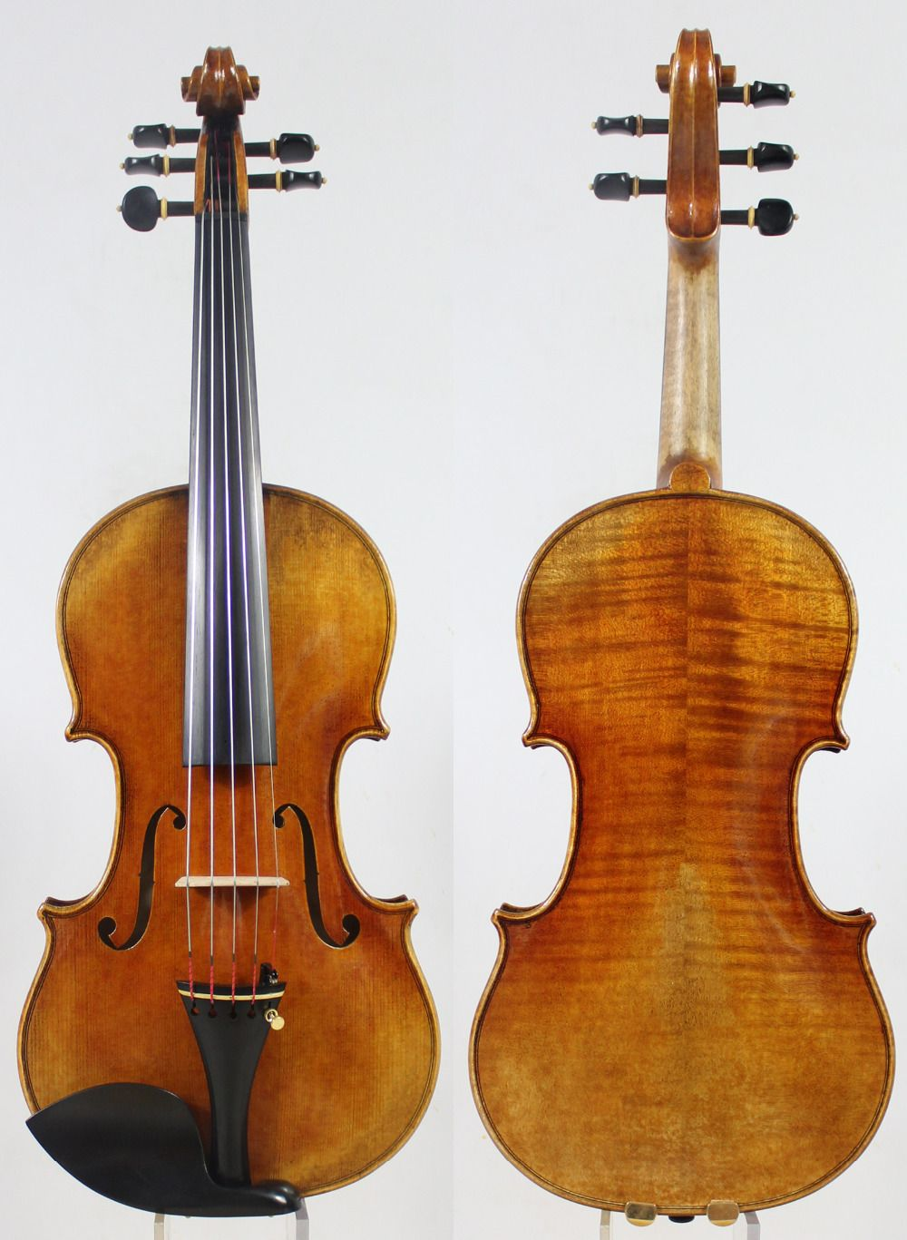 5 Strings Violin violino!Copy Stradivari 1715 Model! Antiqued oil vamish.Master Tone!Case Bow Rosin!Free Shipping!Aubert Bridge!