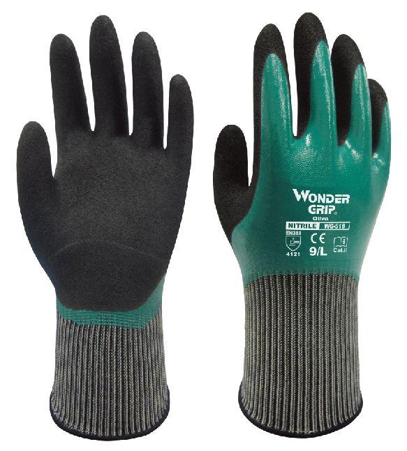 Entièrement résistance à l'huile sécurité gant de jardinage gants de travail gants de travail preuve de l'eau