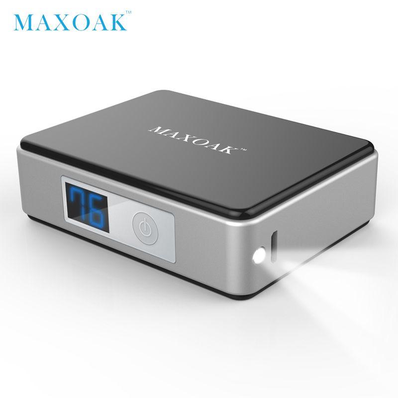 MAXOAK 5200mAh <font><b>18650</b></font> mini power bank portable external battery Digital Display battery bank charger mobile phone