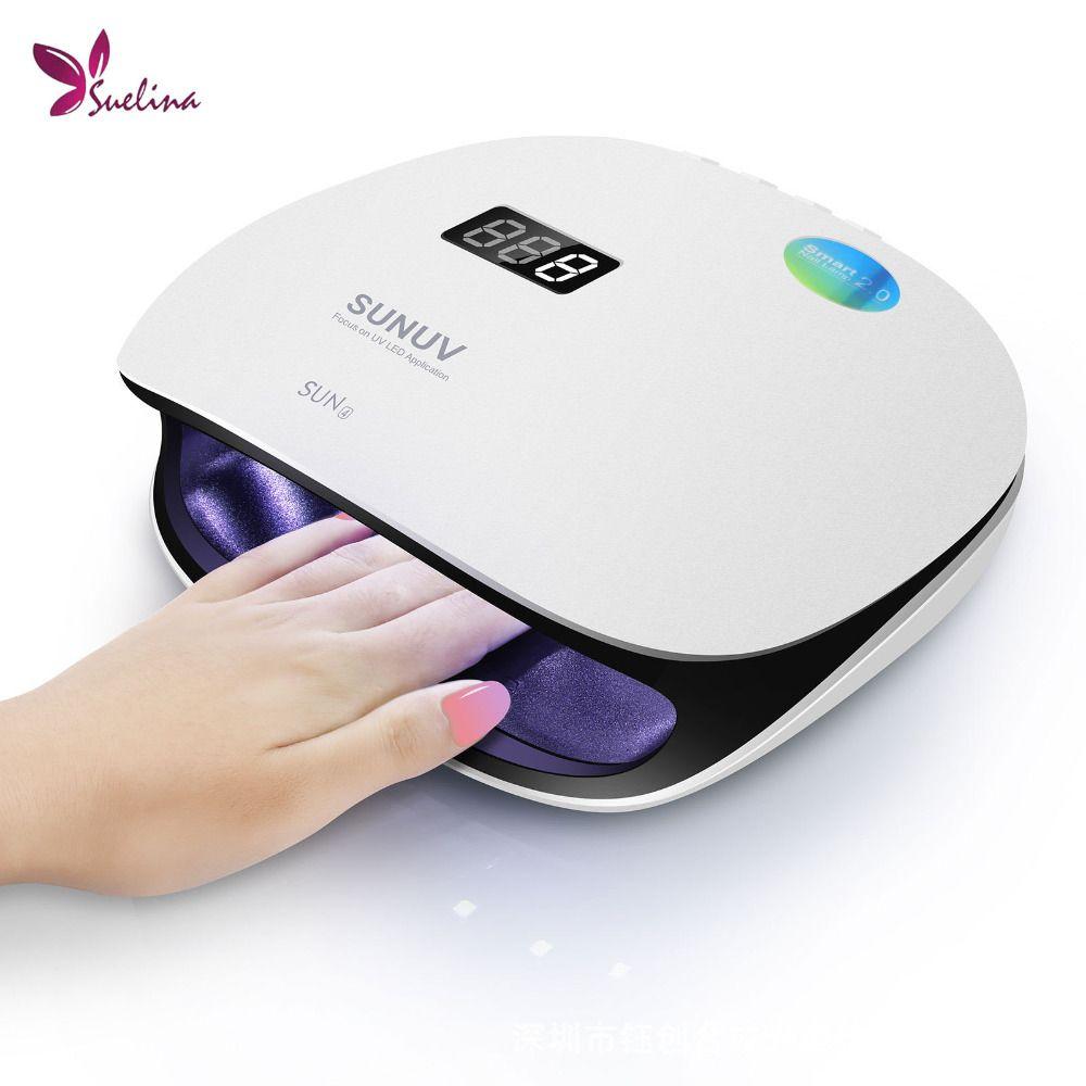 SUN4 48 watt UVLED Professionelle Smart Phototherapie Maschine UVLED Nagel Trockner Lampe für Finger Kappe Nagel Gel Polnischen Maniküre werkzeug