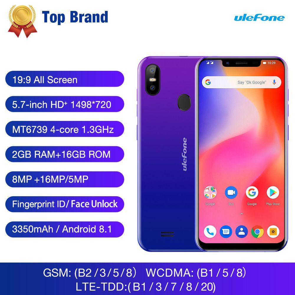 Ulefone S10 Pro Android 8.1 Handy 5,7 19:9 MTK6739 Quad Core 2 gb RAM 16 gb ROM 13MP + 5MP Hinten Dual Kamera 4g Smartphone