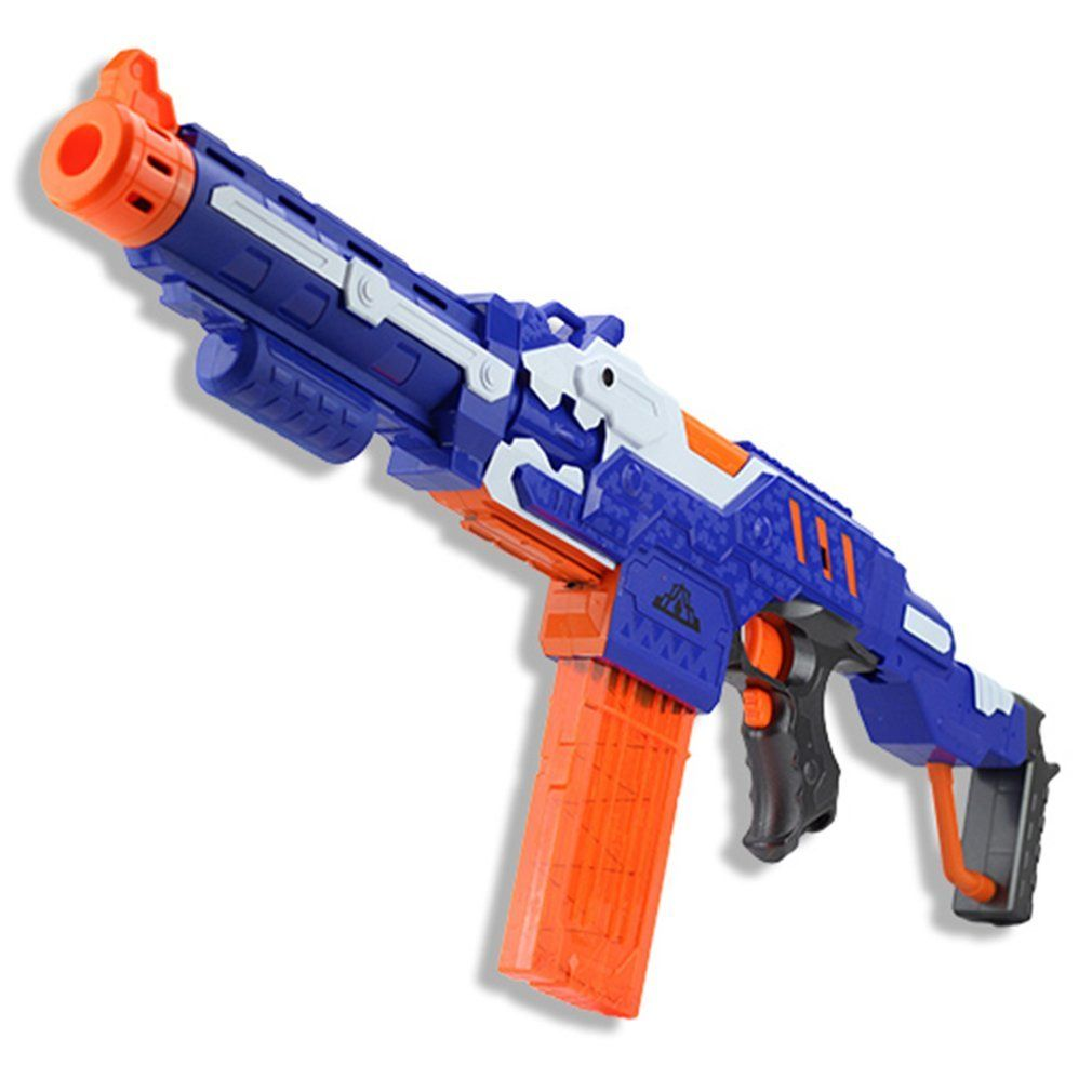 Электрический мягкой пуля игрушечный пистолет для nerf Стрельба пулемет оружие Мягкий Пуля всплески пистолет Забавный на открытом воздухе И...