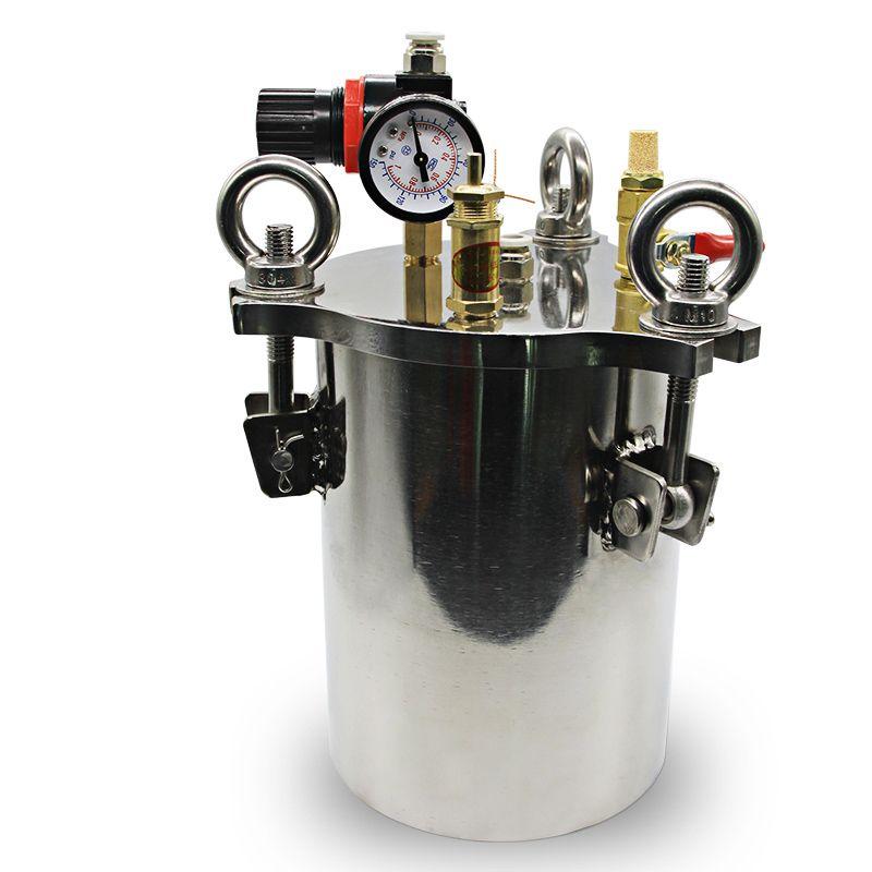 Stainless steel dispenser pressure tank fluid dispensing bucket 1L/2L/3L Y