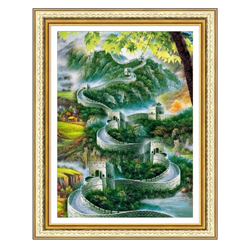 New Diamond Embroidery Paintings The Great Wall 5D Rhinestone Pasted Diamond Painting Cross Stitch Kits Full Mosaic Room Decor