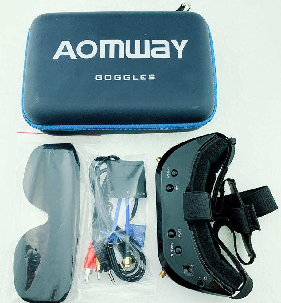 2019 neue Aomway Kommandant Brille V1S 2D 3D 64CH 5,8G FPV Video Headset Unterstützung HDMI 720p DVR Headtracker statt V1 v2