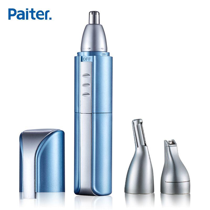 Paiter Для мужчин Электрический Нос волос триммер уха Уход за кожей лица бритья Ножницы выскабливание водонепроницаемость для бровей бритвы в...