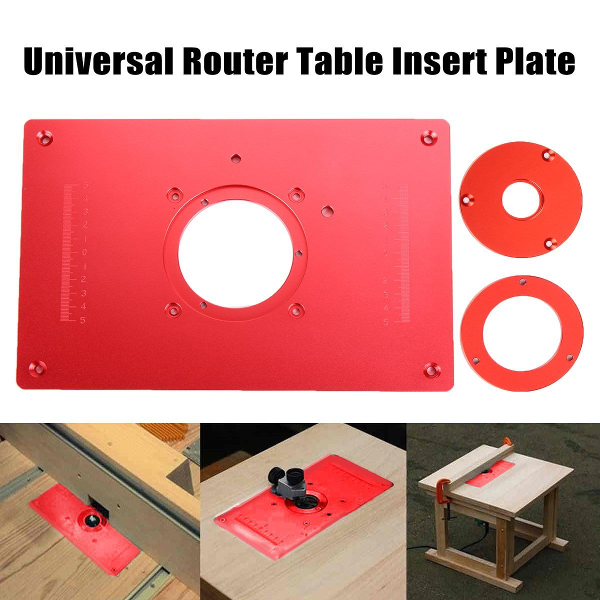 Universal Router Table Insert Plate Aluminium Alloy For DIY Woodworking Engraving Machine 200x300x10mm High Quality