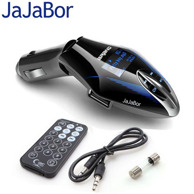 JaJaBor Muti-function Wireless FM Transmitter MP3 Music Player Radio Modulator Blue LCD Screen With Remote Control