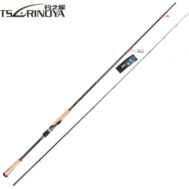 TSURINOYA Locken Stange 2,47 mt 2 Abschnitt M Power Carbon Spinning/Casting Angelrute Angelrute Faser 7- 25g Locken Gewicht Bass Karpfen Stange