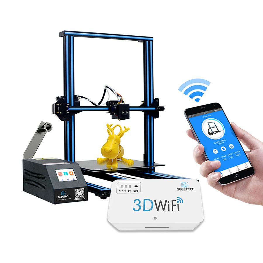 GEEETECH Open Source DIY A30 3D Printer With Large Printer Area Colorful Touch Screen Break-resuming 3D Printer