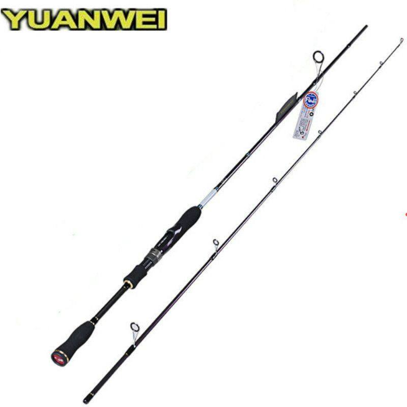 1.8m 2.1m 2.4m Spinning Rod 2 Section Carbon Fiber Lure Fishing Pole Canne A Peche Vara De Para Pesca Carp Fish Stick Tackle