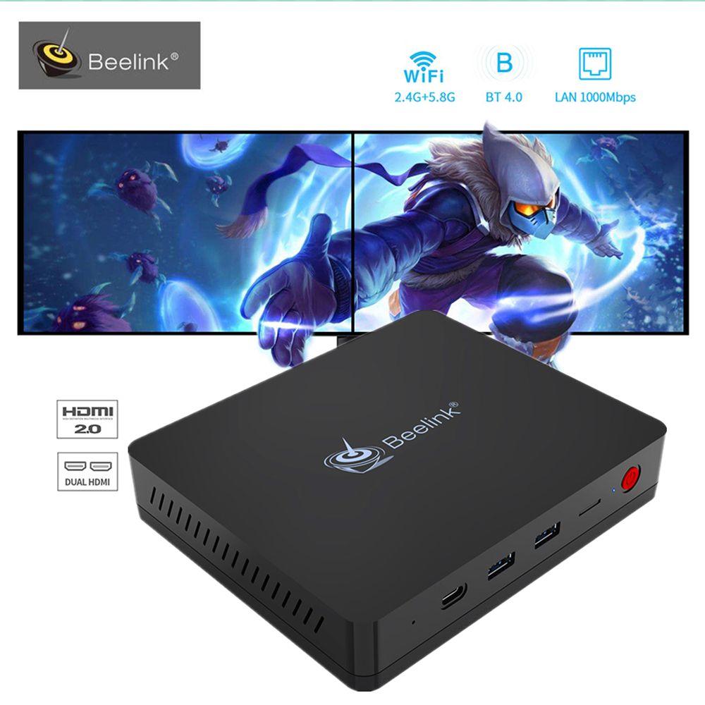Beelink S II Intel Gemini Lake Mini PC Windows10 4GB RAM DDR4 64GB ROM Set Top TV Box 5G Wifi Bluetooth4.0 1000M Media Player