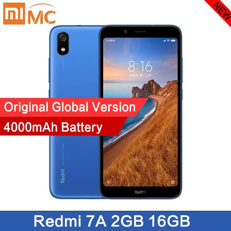 Original nouveau Xiaomi Redmi 7A Smartphone 5.45 Snapdargon 439 4000mAh batterie 2GB 16G Octa Core 12MP Version mondiale livraison rapide