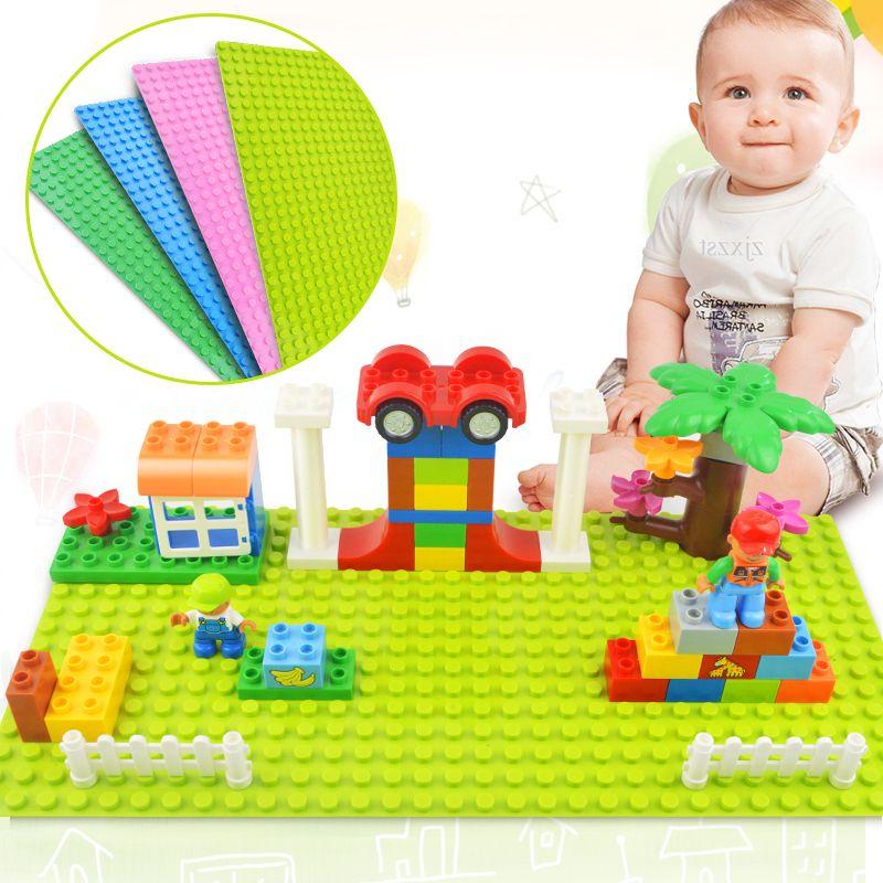 Große Größe Blöcke Basis Platte 32*16 Punkte 51*25,5 cm Grundplatte DIY Bausteine Spielzeug Für Kinder kompatibel Legoed Duplo