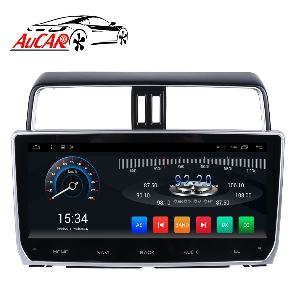 Android 7.1 12,3 Auto multimedia für Toyota Prado 2018 Auto DVD Player wide screen 1024*600 Bluetooth GPS Radio WIFI 4G Stereo
