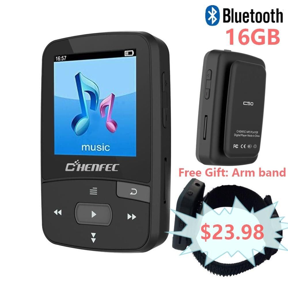 ChenFec-C50 Original Mini lecteur MP3 avec Clip Sport lecteur de musique sans perte de haute qualité avec FM, prend en charge MP3, WMA, APE, FLAC